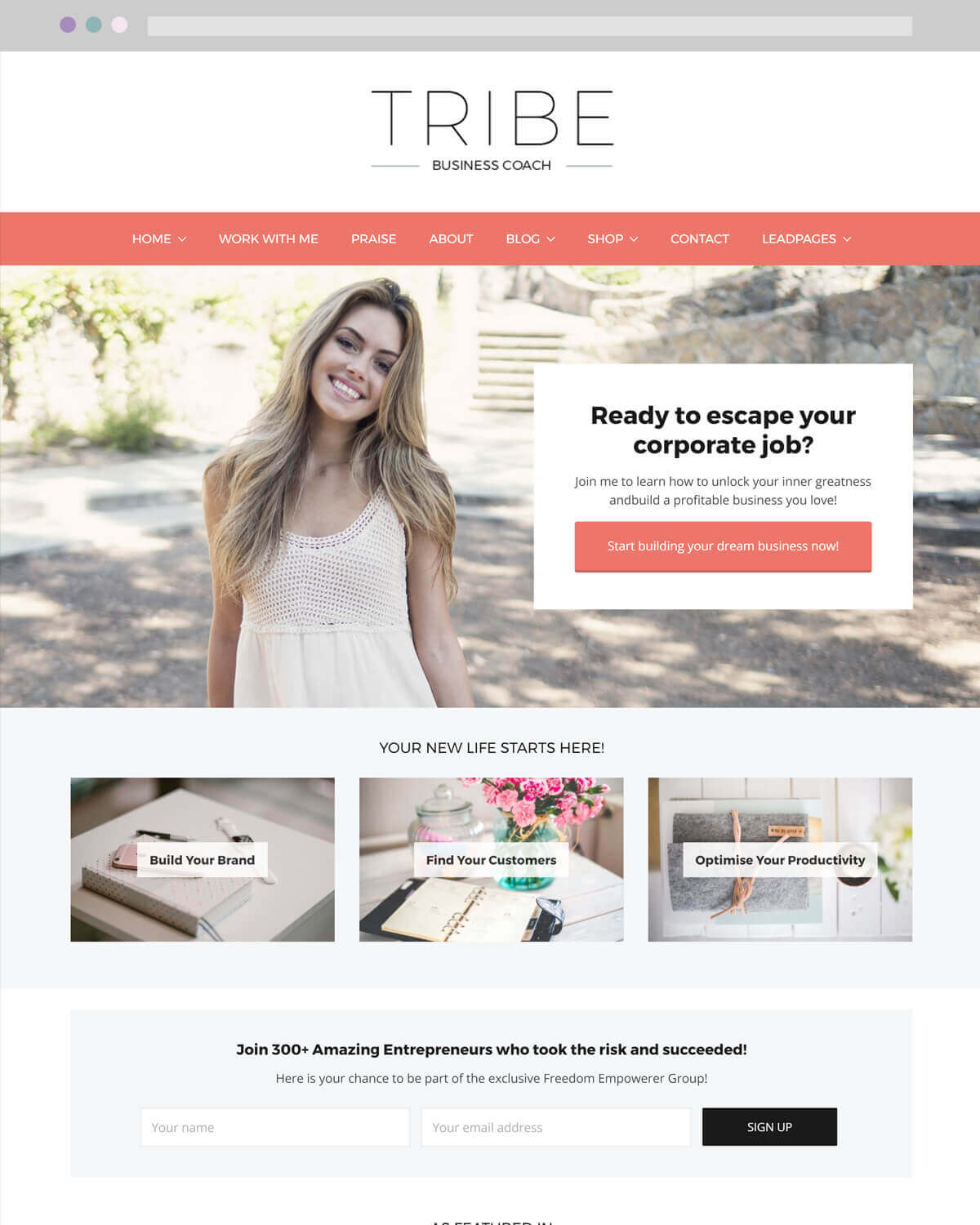 Tribe WordPress Theme by Lanuch and Sell