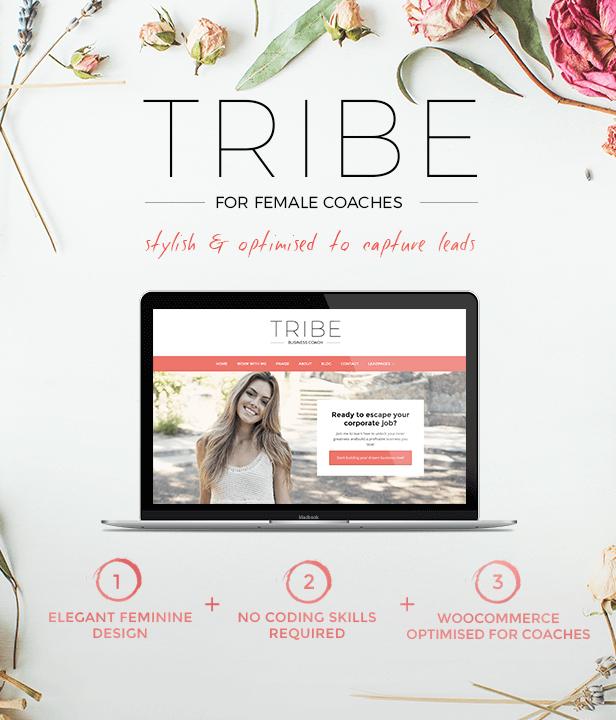 Tribe - Feminine Coach WordPress Theme - 2