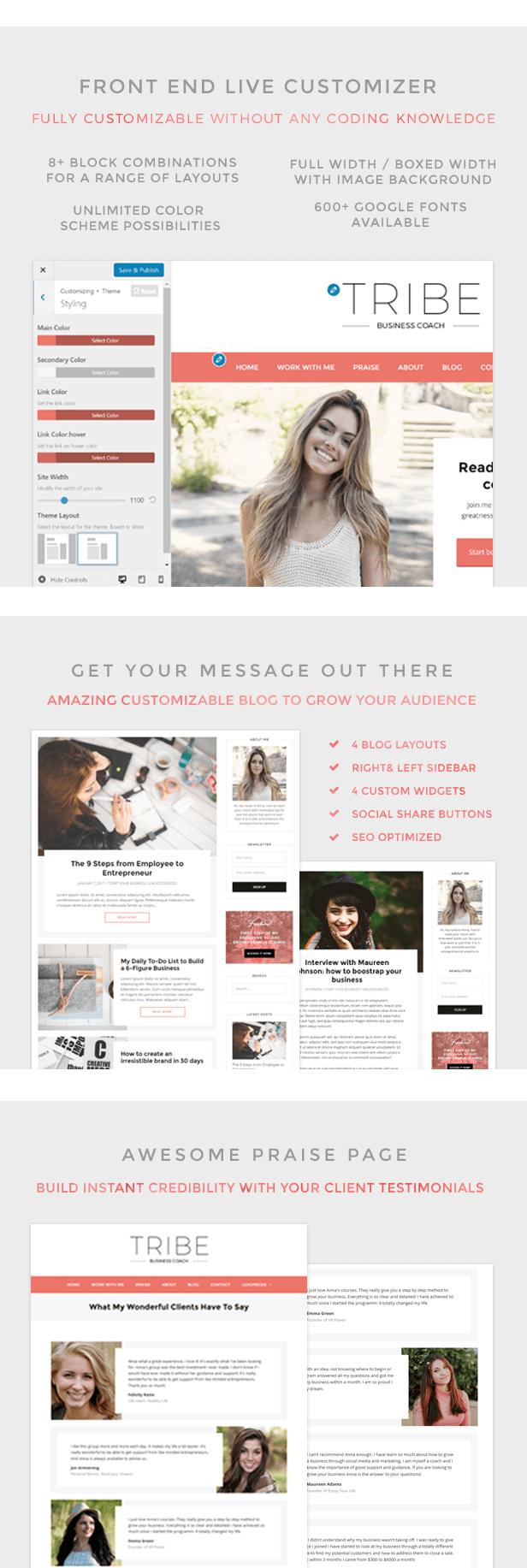 Tribe - Feminine Coach WordPress Theme - 5